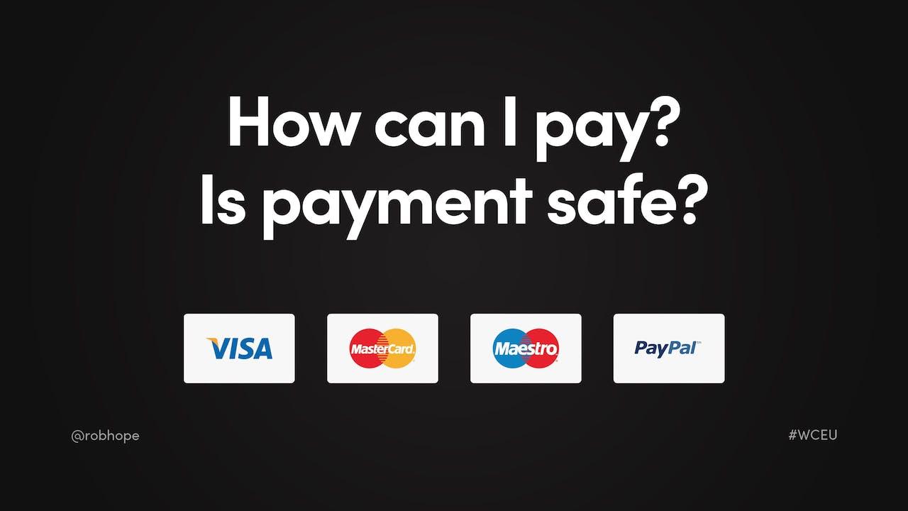 Landing Page Credit Card Logos Screenshot