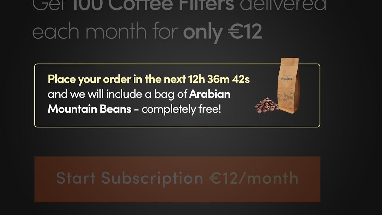 Landing Page - Countdown timer plus free product haste Screenshot