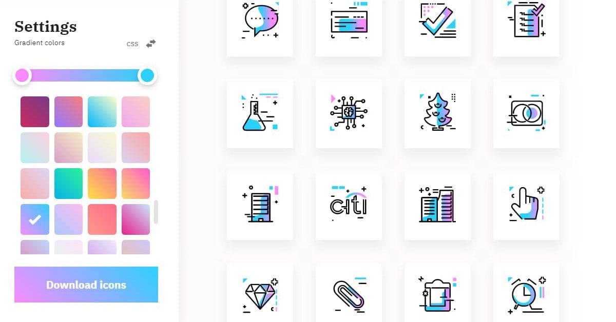 Gradientify Icons