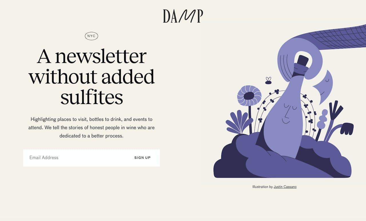 DAMP Newsletter Screenshot