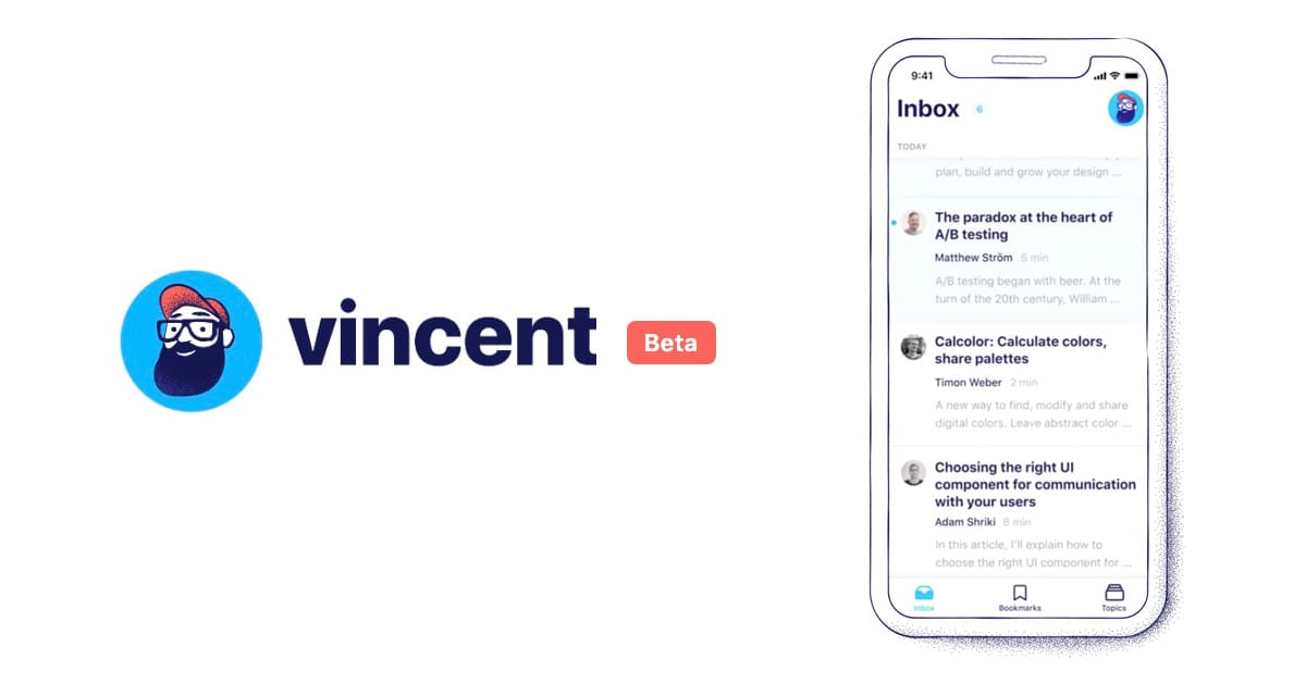 Vincent iOS App – Design and Frontend News