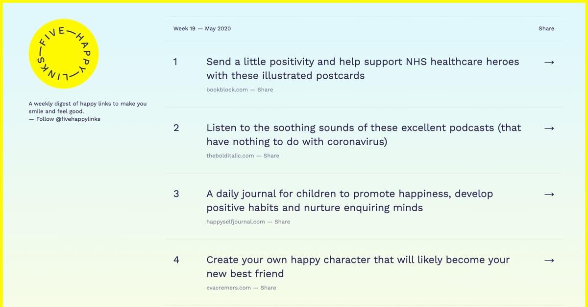 Five Happy Links