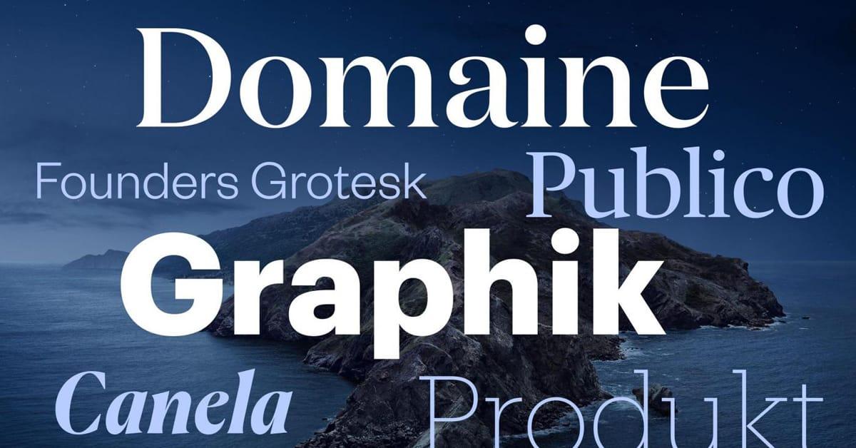 Hidden Catalina Typefaces