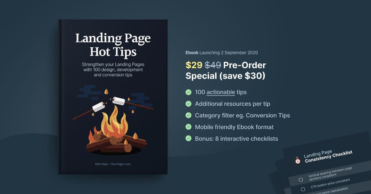 Landing Page Hot Tip Ebook ($29 Pre-Order Special)