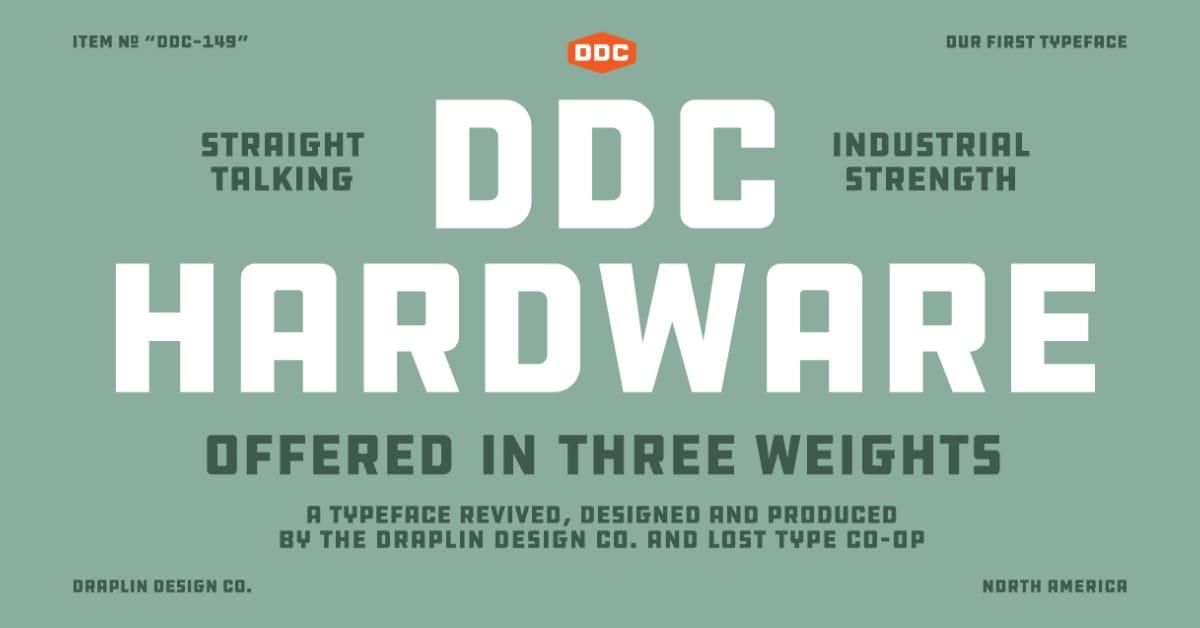 DDC Hardware Typeface