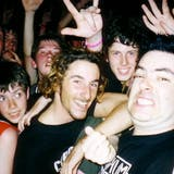 A disposable camera selfie with Fat Mike
