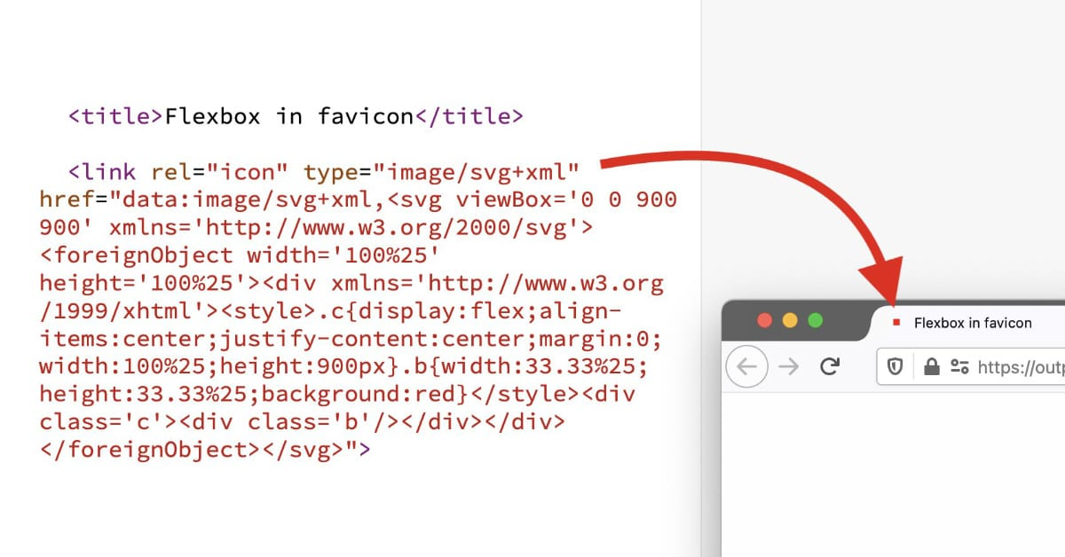 CSS in HTML in SVG in a favicon