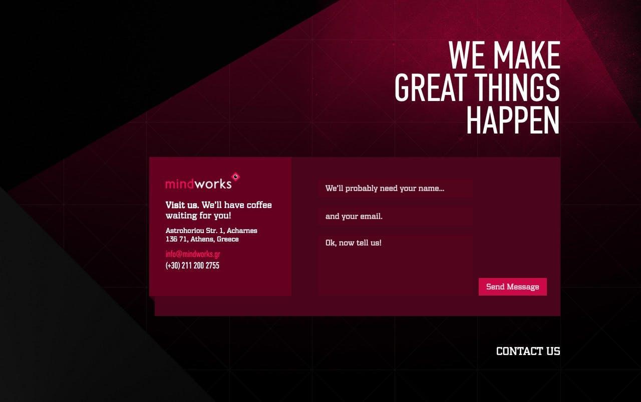 Contact Form - Mindworks Screenshot