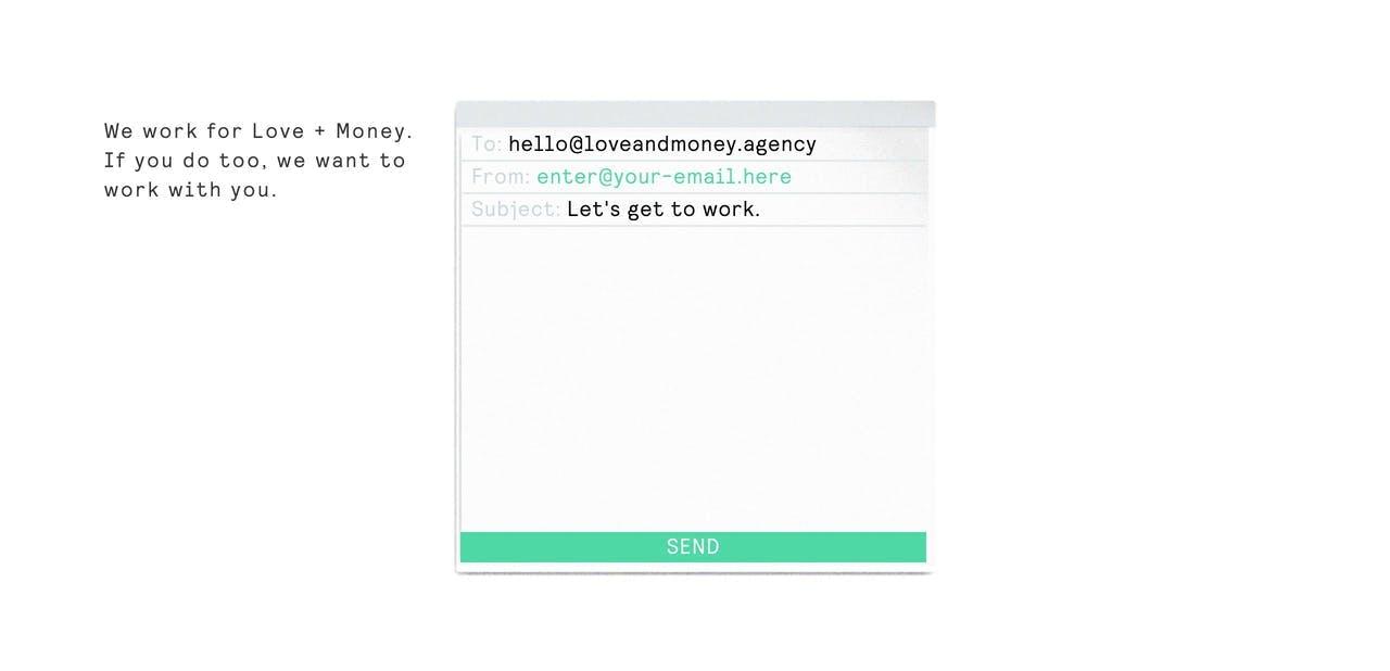 Contact Form - Love Money Agency Screenshot