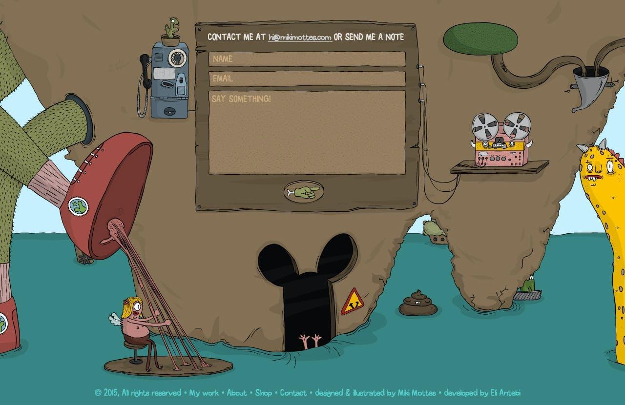 Big Footer Area - Miki Motte Screenshot
