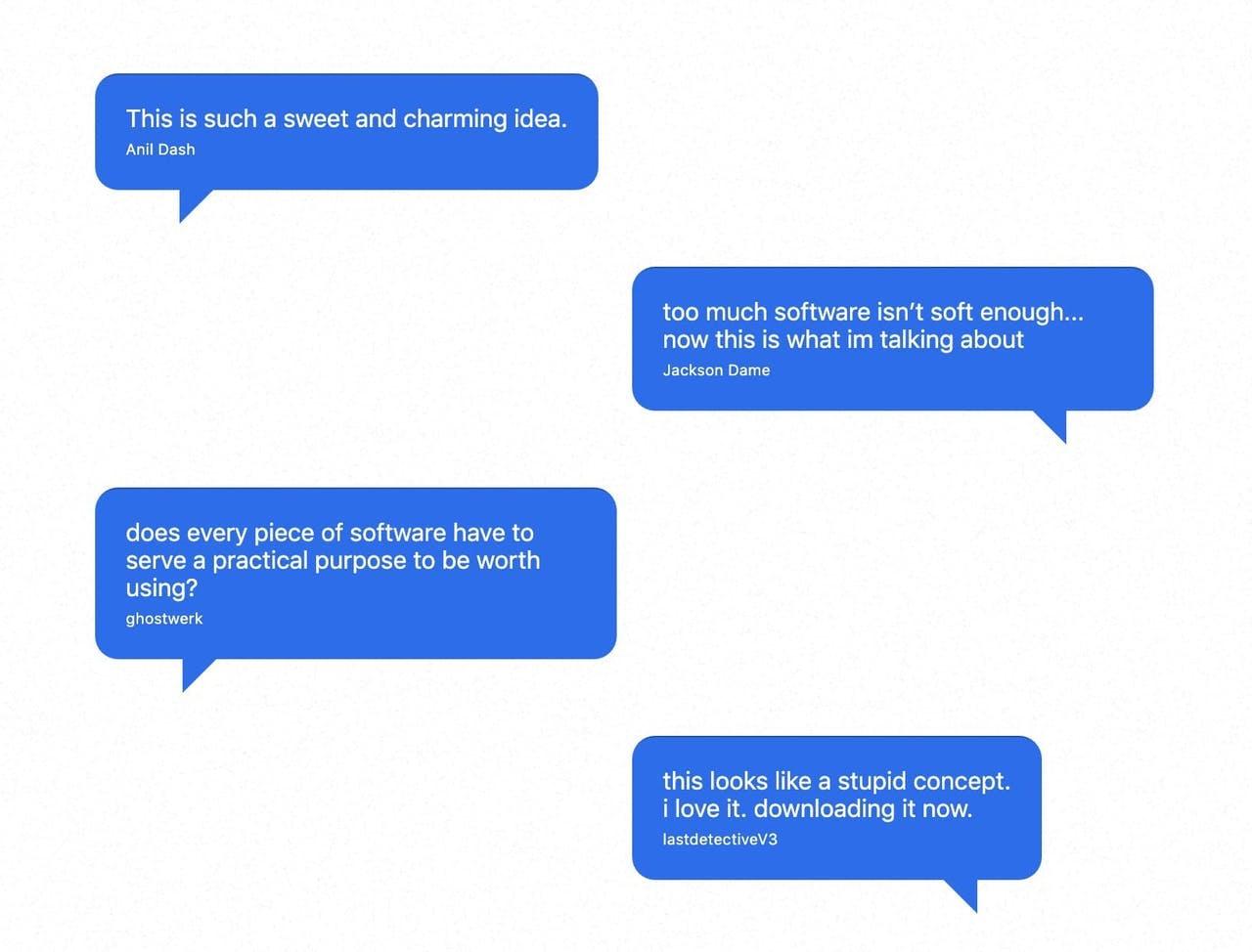 Chat-style Testimonials - Bird Folder Screenshot