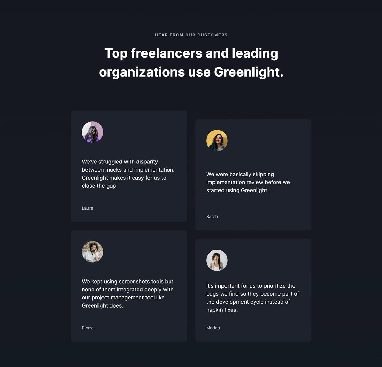 Testimonial - Greenlight feedback extension Screenshot