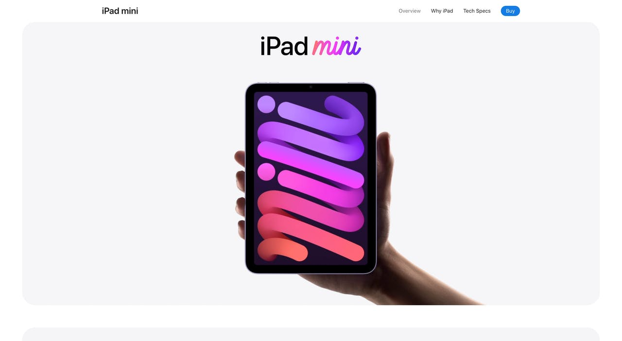 apple.com/ipad-mini Screenshot