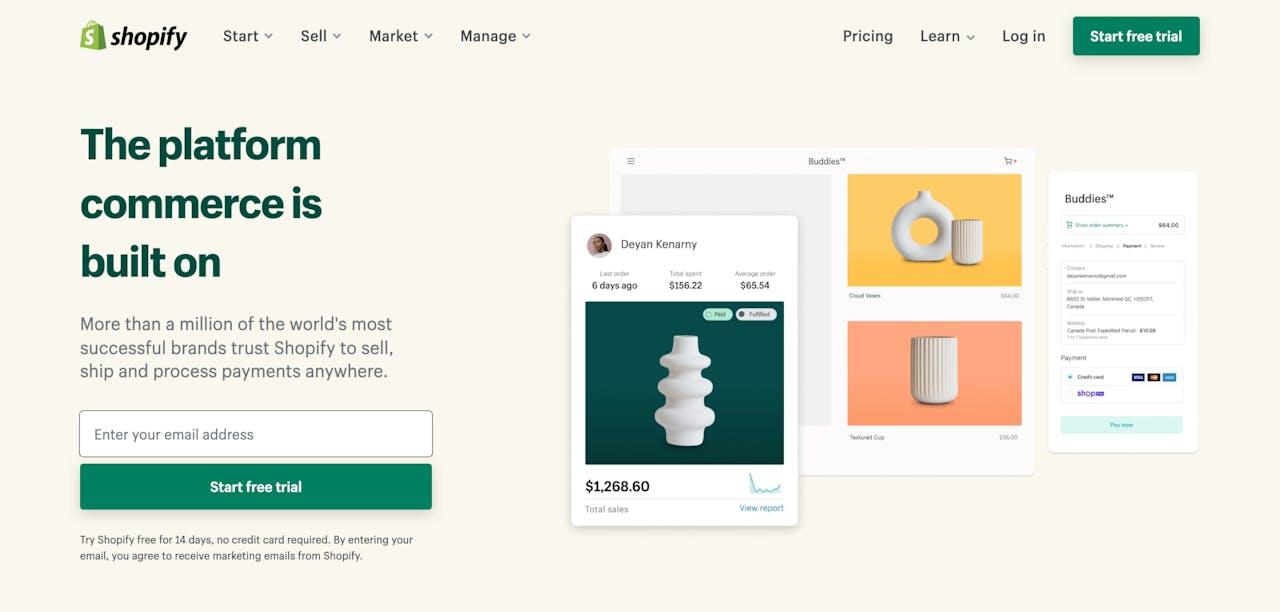 shopify.com Screenshot